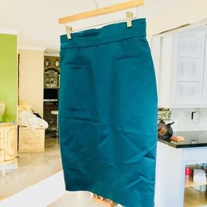 ZAC POSEN pencil skirt green emerald size 8